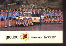 cyclisme card carte Team Cycling Radsport Team Z Peugeot 87 PENSEC ROUX