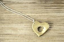 Shot Through the Heart Brass Necklace BHEART-N