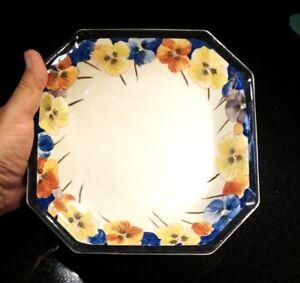 Beautiful Rare Royal Doulton Pansy Serving Bowl