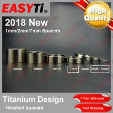 "EasyTi Titanium/Ti Spacer 1-1/8""(1-2-7-5-10-15-20mm) for Headset&Stem front fork"