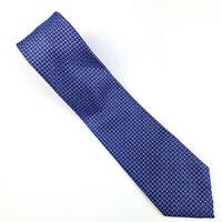 BRIONI Mens Neck Tie Blue Red Metallic Geometric 100% Silk HANDMADE IN ITALY EUC