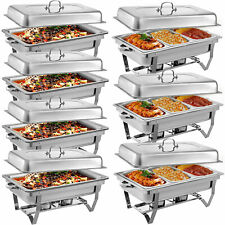 7 Pack Chafing Dish Sets Buffet Catering Chafer 1/3 Full Size Stainless Steel