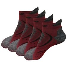 4 Pairs Mens Low Cut Ankle Athletic Cotton Non Slid Sport No Show Casual Socks