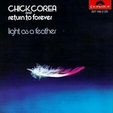 RARE CD DÉDICACÉE PAR CHICK COREA / RETURN TO FOREVER - LIGHT AS A FEATHER