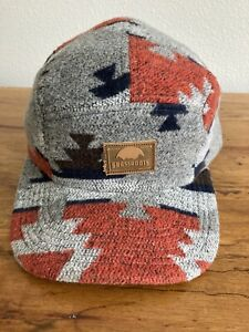 Grassroots California 5 Panel Adjustable Hat Soft Style Mayan Pattern