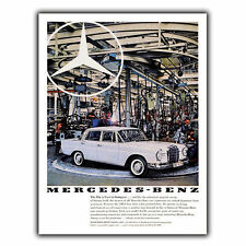 MERCEDES 220S Vintage Retro Car Advert AD METAL SIGN WALL PLAQUE poster print