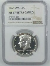 1966 Kennedy Half Dollar SMS MS 67 Ultra Deep Cameo