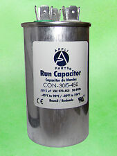 DUAL RUN CAPACITOR 30+5 MFD uF 440V/450V ROUND CAN - Replaces the 30+5 uF 370V