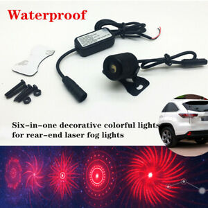 Six-in-one Universal Car Decorative Colorful Light For Rear-end Laser Fog Light