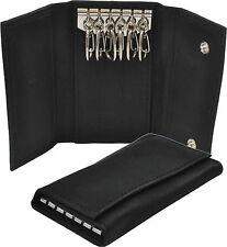 Ashford Ridge Real Leather Key Case Card Holder Wallet - Black (1652BK)