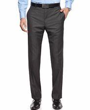 Calvin Klein Grey Herringbone Slim Fit Men's Pants, Size 34W 30L