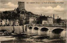 CPA  Crest (Drome) - Le Pont de la Drome et la Tour   (350378)
