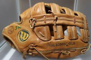 """Wilson A2000 XLO Made in USA Tan Ansonia 12.5"""" glove mitt"""