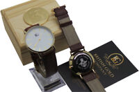 RAF WRIST WATCH PERSONALISED WATCH Engraved 24k Gold Luxury Air Force Leather
