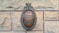 Disney Prop Haunted Mansion Attraction Plaque replica