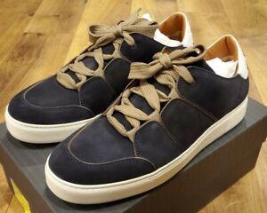 $775, Ermenegildo Zegna Tiziano Suede Low-Top Sneakers, Size 11US (44 EUR, 10UK)