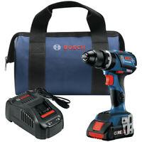 Bosch GSB18V-535CB15 18V 1/2 in. Hammer Drill Driver w/ (1) 4 Ah Battery New