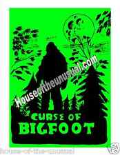 Rare Vintage Curse Of Bigfoot Poster Only 7 in existence signed by artist 20x24