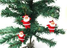 Hot Small Red Santa Claus Decorations in Christmas Party Tree Gifts Short Floss
