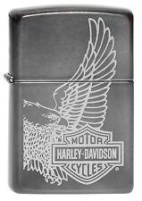 ZIPPO NEUHEIT Harley Davidson EAGLE in Grey Dusk Adler Biker Motorrad OVP NEU