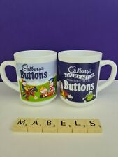 ARCOROC ARCOPAL ~CADBURY'S BUTTONS~ milk glass mugs x 2