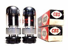 Matched PAIR 7N7 Tubes CBS Sylvania NOS NIB (Loctal version of 6SN7GT) 1960s