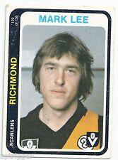 """1979 Scanlens (129) Mark LEE Richmond """""""""""