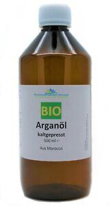 Arganöl BIO kbA 500 ml 100% rein aus Marokko für Haut und Haare (39,20/L)