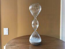 Hourglass Sand Timer Hour Glass Grey/silver sparkly sand Art Glass Home Decor