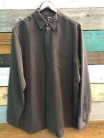 Murano Men's XL Brown Long Sleeve Button Up Shirt