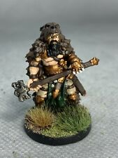 Barbarian with Warhammer Painted Miniature for D&D or Pathfinder Fantasy RPG
