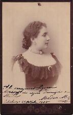 MEDEA MEI-FIGNER Mezzo/Soprano autographed imperial cabinet photograph 1888