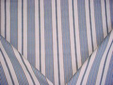 14-3/8y LACEFIELD DESIGNS ASHFIELD LAPIS LINEN STRIPE DRAPERY UPHOLSTERY FABRIC