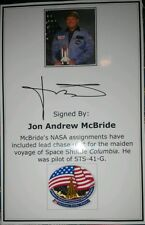 Jon Andrew McBride NASA Astronaut Autograph Signed Bookplate Space Shuttle