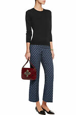 $250 TORY BURCH OLIANA Navy Blue Pinstripe Print Pants Trouser - Size 6
