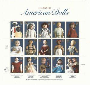Usa: 1997, scott 3151 sheet of 15 classic American dolls, mint NH. US030/