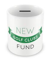 New Golf Clubs Fund Money Box PIGGY BANK Gift Idea Dad Coin pot bank hobby #93