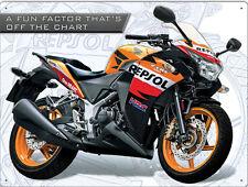 Honda CBR250R repsol moto métal tin wall art signe plaque 30 * 40 cm 50932
