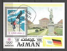 Jeux Olympiques d' été Ajman (40) bloc oblitéré