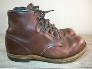 """6"""" Red Wing Heritage 9011 Beckman Round Men's Featherstone Leather Work Boots 8"""