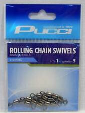 P-Line P3RC1-5 Pucci 3 Barrel Rolling Chain Fishing Swivels Package of 5 Size 1