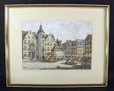 Fritz Hartmann 1878-ibid/Düsseldorf, piazza del mercato/acquaforte, handsigiert