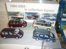 Coffret Collection 4 Renault Espace 1984-2004 UNIVERSAL HOBBIES ECHELLE 1/43