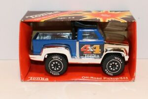 Tiny Tonka #645 Off-Road 4x4 Pickup from 1982 ~ New in Box ~ Made in Mexico Blue