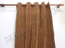 Ballard Designs SILVER GROMMET Velvet Drapes Panels Curtains Camel 54x96