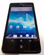 Sony Xperia Lt30At 16Gb Black (At&T) Cracked Glass - Clean Imei - Read Below