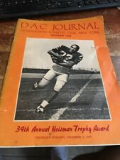 Downtown Athletic Club Journal Program December 1968 Signed by OJ Simpson C-356