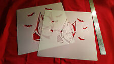 YOUTH ADULT BAT GUY T SHIRT AIRBRUSH STENCILS SET OF 2 FAST FREE SHIP!