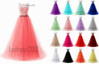 New LACE Bridesmaid Long Formal Prom Party Ball Wedding Evening Dress Size 6-22