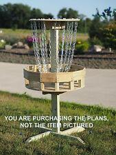 PDF Plans Disc Golf Target Professionally Designed meets PDGA Standards Frisbee
